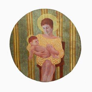 Huile Mère et Enfant à bord par Perez Petriarte, 1980s