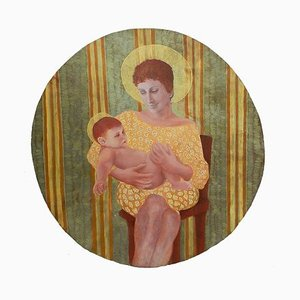 Mutter und Kind Öl an Bord von Perez Petriarte, 1980er