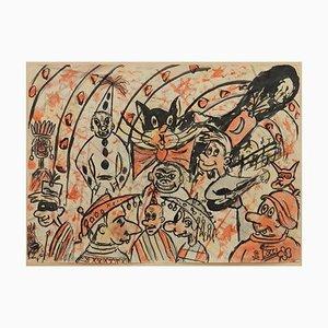 Italienischer Karneval Sketch von Bruno Locci, 1950er