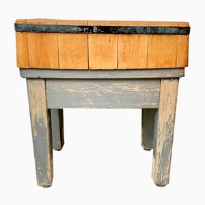 Vintage Wooden Chopping Butchers Block