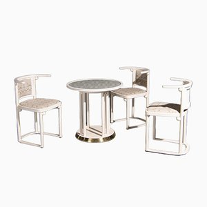 Art Nouveau Style Table & Chairs by Josef Hoffmann for Wittmann, 1970s, Set of 4