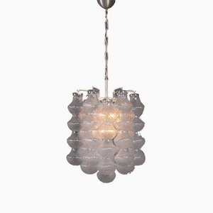 Mid-Century Pendant Lamp with Glass Drop-Shaped Elements
