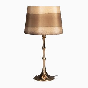 Mid-Century Bamboo Table Lamp in Brass by Ingo Maurer for MDesign