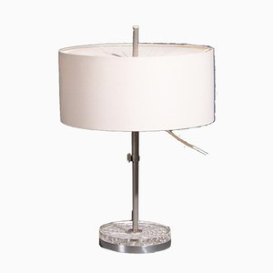 Vintage Table Lamp with Glass Base from Bur Leuchten