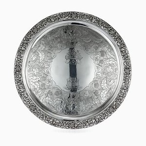 Georgische Englische Servierplatte aus Silber von J. Linnit, 1820er