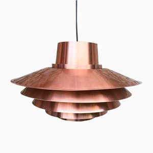 Copper Verona Pendant Lamp by Svend Middelboe for Nordisk Solar