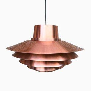 Lampe à Suspension Verona en Cuivre par Svend Middelboe pour Nordisk Solar