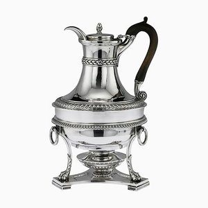 19th Century Georgian English Solid Silver Jug on Stand from Paul Storr, 1800s