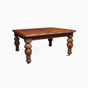 19th Century Carved Oak Dining Table