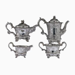 19th Century Georgian English Solid Silver Tea and Coffee Set from Joseph Angell, 1820s, Set of 4