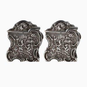 Georgianische englische Chinoiserie Teedosen aus massivem Silber, 19. Jh. Von Joseph Angell, 1830er, 2er Set