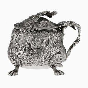 Englischer Senfgeschirr aus massivem Silber von Georg Farrell, 1820er