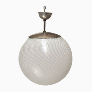 Sphere Pendant Lamp Attributed to Venini, 1950s