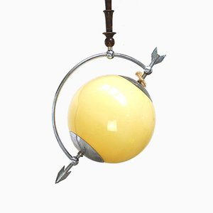 Pendant Lamp in the Style of the Saturn Model by Pietro Chiesa, 1940s