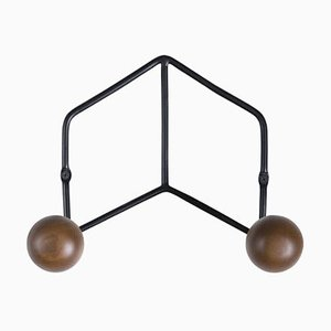 Epure Duo Black & Teak Coat Rack by AC/AL Studio
