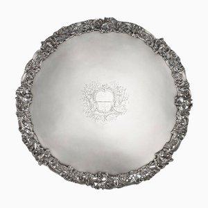 Silbernes Georgianisches Silber Tablett von Arthur Annesley, 1760er