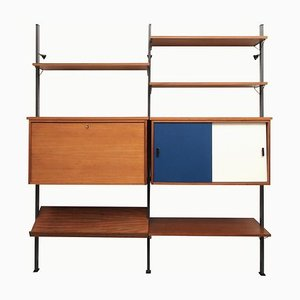 Walnut Shelving System with Secretaire by Olof Pira, 1960s