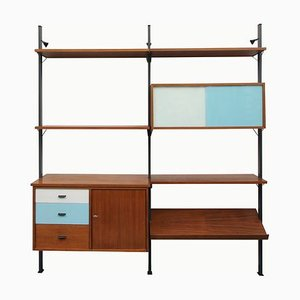 Walnut Shelving System by Olof Pira, 1960s