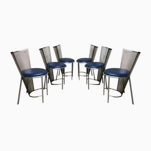 Vintage Esszimmerstühle von Frans Van Praet für Belgo Chrom / Dewulf Selection, 1992, 6er Set