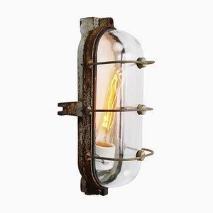 Applique Industrielle Vintage en Fonte et Verre Transparent de Industria Rotterdam