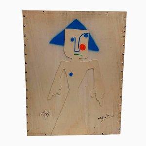 Sperrholz Mappe von Marcello Pirro für La Pergola Edizioni, 1970er