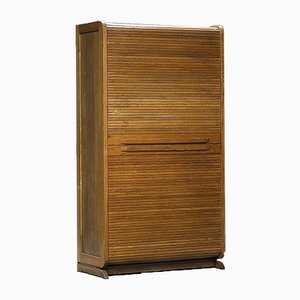 Mid-Century Haberdashery Cabinet with Lockable Tambour Door