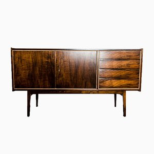 Walnut Sideboard by S. Albrecht for Bydgoskie Fabryki Mebli, 1960s