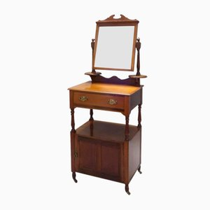 Victorian English Mahogany Dressing Table, 1880s