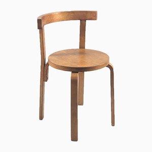 Beistellstühle im Stil von Alvar Aalto, 1980er, 4er Set