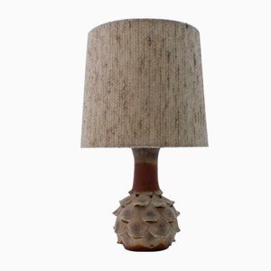 Ceramic Table Lamp with Illuminated Artichoke Shaped Foot, 1960s