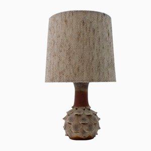 Tischlampe aus Keramik mit beleuchtetem Fuß in Artischockenform, 1960er