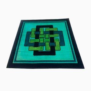 Tappeto vintage a motivi geometrici, anni '70
