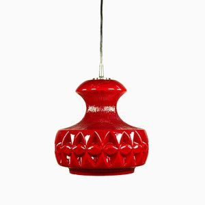 Lampe à Suspension Op Art Vintage en Verre de Peill & Putzler