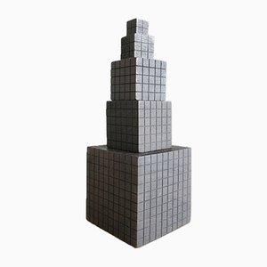 Quadratische Mid-Century Geometrische Skulpturen, 1970er, 77er Set