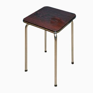 Mid-Century Dutch Formica and Metal Stool, 1960s