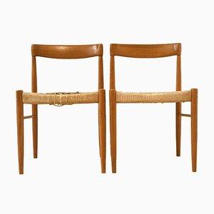 Dänische Teak Esszimmerstühle, 1960er, 2er Set
