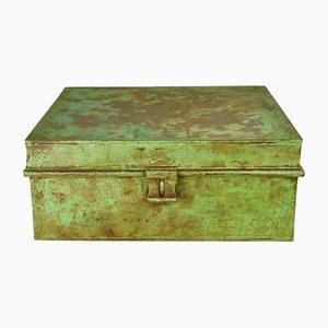 Boîte en Métal Peint Vert, 1970s