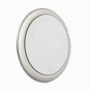 Chrome, Ceramic & Glass Mirror, 1970s