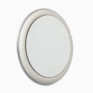 Miroir en Chrome, Céramique & Verre, 1970s