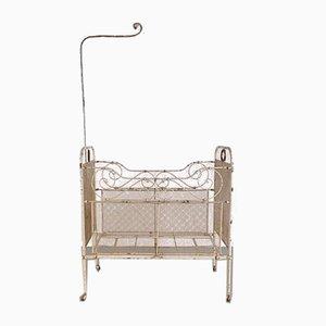 Brocante Baby Crib, 1950s