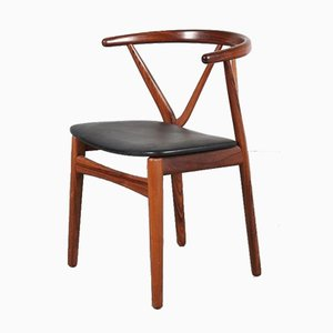 Rosewood Desk or Dining Chair by Henning Kjaernulf, 1960s