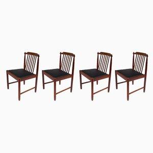 Chaises de Salon Scandinaves en Palissandre, 1950s, Set de 4