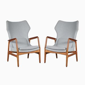 Highback Lounge Chairs by Aksel Bender Madsen for Bovenkamp, 1950s, Set of 2