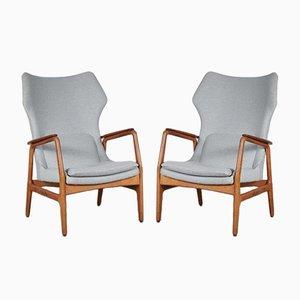 Sessel mit hoher Rückenlehne von Aksel Bender Madsen, 1950er, 2er Set