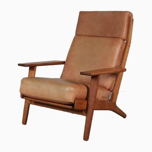 Oak Lounge Chair by Hans J. Wegner, 1950s