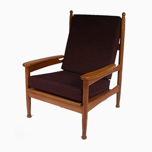 Oak Lounge Chair, 1950s