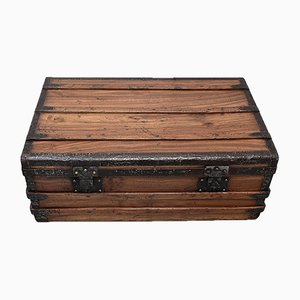 Antique Mahogany and Camphor Travel Trunk