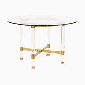 Tisch aus Plexiglas und vergoldetem Messing von Sandro Petti für Metalarte, 1970er
