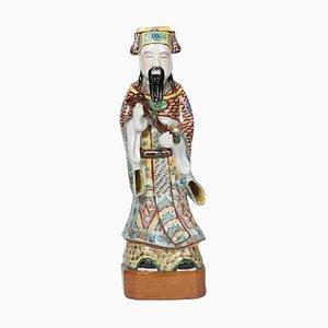 Antiker chinesischer Gewandträger aus mehrfarbigem Steingut, 1900er