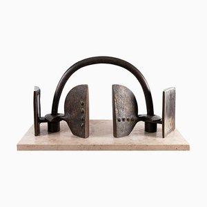 Escultura La Porte de bronce de Victor Roman, años 80